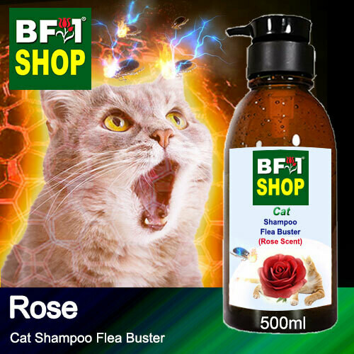 Cat Shampoo Flea Buster (CSO-Cat) - Rose - 500ml ⭐⭐⭐⭐⭐