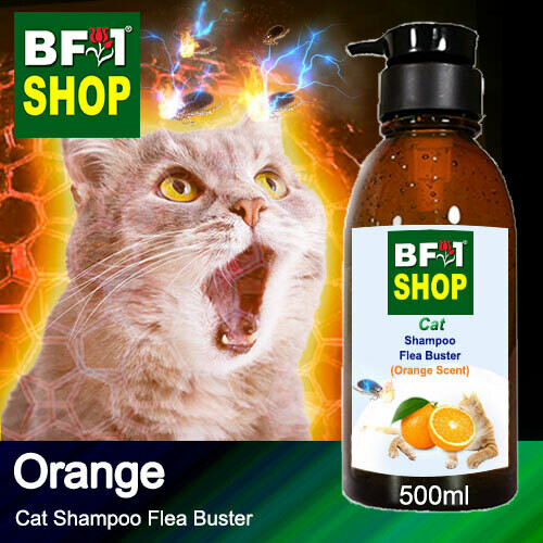 Cat Shampoo Flea Buster (CSO-Cat) - Orange - 500ml ⭐⭐⭐⭐⭐