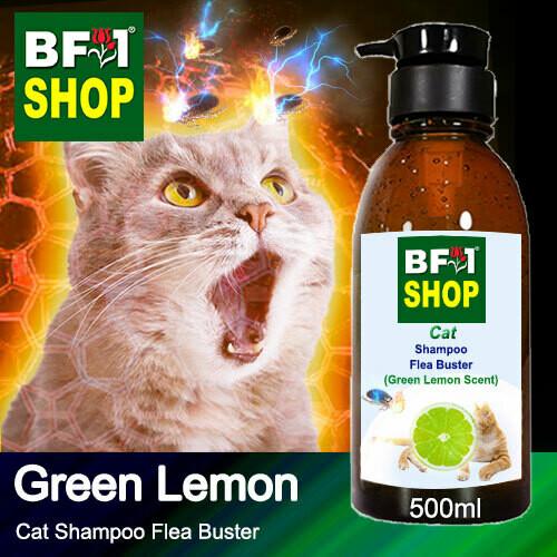 Cat Shampoo Flea Buster (CSO-Cat) - Lemon - Green Lemon - 500ml ⭐⭐⭐⭐⭐
