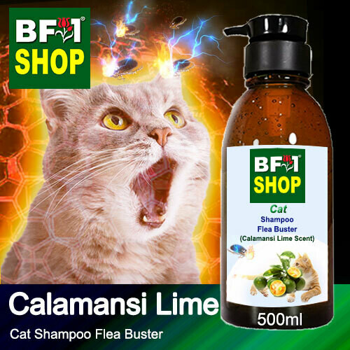Cat Shampoo Flea Buster (CSO-Cat) - lime - Calamansi Lime - 500ml ⭐⭐⭐⭐⭐