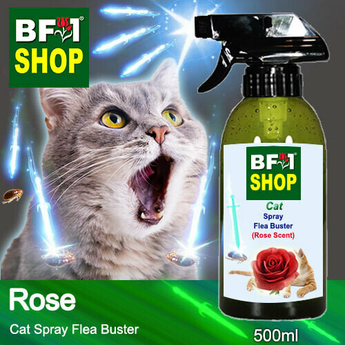 Cat Spray Flea Buster (CSY-Cat) - Rose - 500ml ⭐⭐⭐⭐⭐