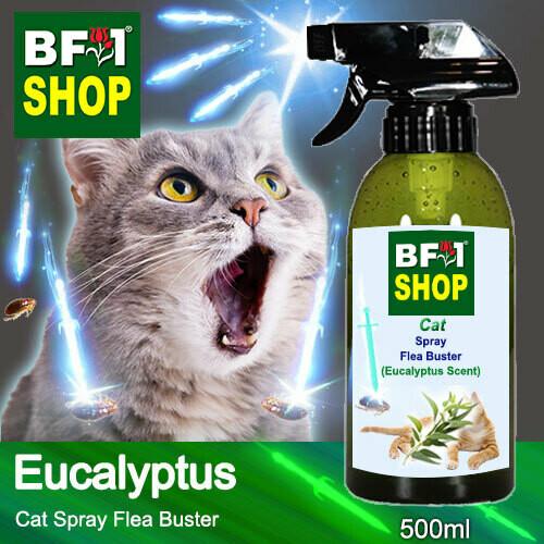 Cat Spray Flea Buster (CSY-Cat) - Eucalyptus - 500ml ⭐⭐⭐⭐⭐