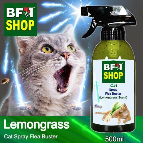 Cat Spray Flea Buster (CSY-Cat) - Lemongrass - 500ml ⭐⭐⭐⭐⭐