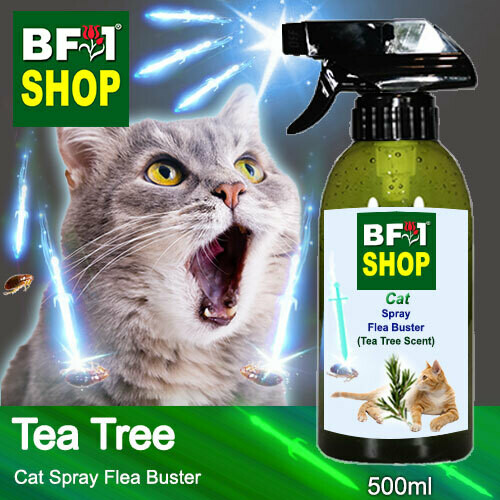 Cat Spray Flea Buster (CSY-Cat) - Tea Tree - 500ml ⭐⭐⭐⭐⭐