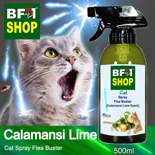 Cat Spray Flea Buster (CSY-Cat) - lime - Calamansi Lime - 500ml ⭐⭐⭐⭐⭐