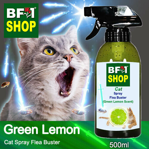 Cat Spray Flea Buster (CSY-Cat) - Lemon - Green Lemon - 500ml ⭐⭐⭐⭐⭐