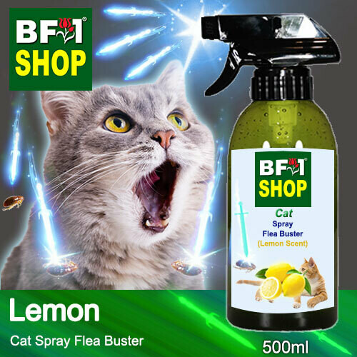 Cat Spray Flea Buster (CSY-Cat) - Lemon - 500ml ⭐⭐⭐⭐⭐