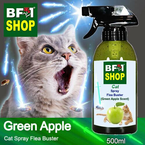 Cat Spray Flea Buster (CSY-Cat) - Apple - Green Apple - 500ml ⭐⭐⭐⭐⭐