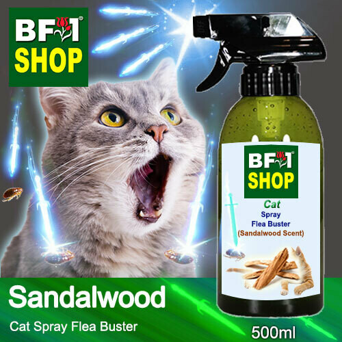 Cat Spray Flea Buster (CSY-Cat) - Sandalwood - 500ml ⭐⭐⭐⭐⭐