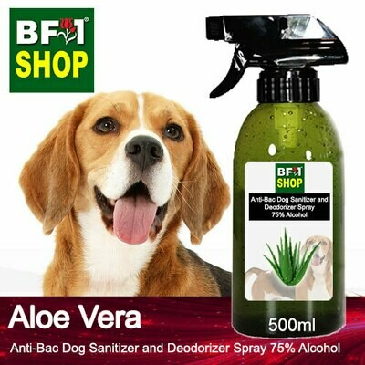 Anti-Bac Dog Sanitizer and Deodorizer Spray (ABPSD-Dog) - 75% Alcohol with Aloe Vera - 500ml for Dog and Puppy ⭐⭐⭐⭐⭐