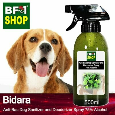 Anti-Bac Dog Sanitizer and Deodorizer Spray (ABPSD-Dog) - 75% Alcohol with Bidara - 500ml for Dog and Puppy ⭐⭐⭐⭐⭐