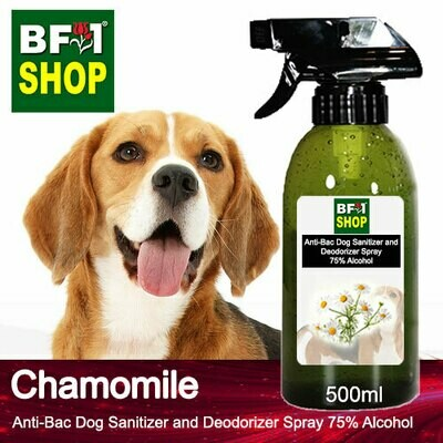 Anti-Bac Dog Sanitizer and Deodorizer Spray (ABPSD-Dog) - 75% Alcohol with Chamomile - 500ml for Dog and Puppy ⭐⭐⭐⭐⭐