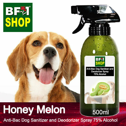 Anti-Bac Dog Sanitizer and Deodorizer Spray (ABPSD-Dog) - 75% Alcohol with Honey Melon - 500ml for Dog and Puppy ⭐⭐⭐⭐⭐