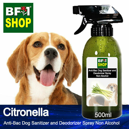 Anti-Bac Dog Sanitizer and Deodorizer Spray (ABPSD-Dog) - Non Alcohol with Citronella - 500ml for Dog and Puppy ⭐⭐⭐⭐⭐