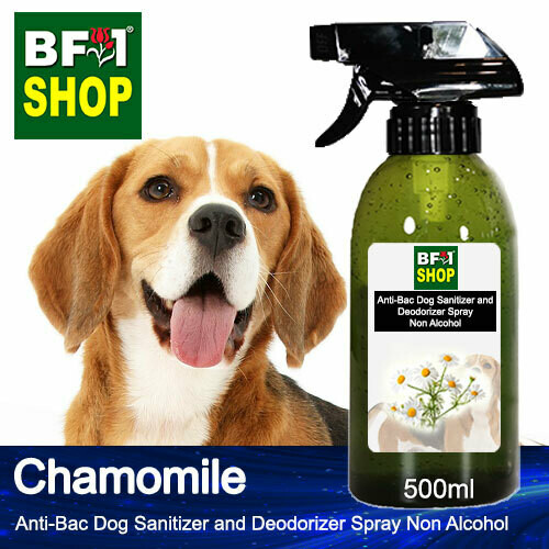 Anti-Bac Dog Sanitizer and Deodorizer Spray (ABPSD-Dog) - Non Alcohol with Chamomile - 500ml for Dog and Puppy ⭐⭐⭐⭐⭐