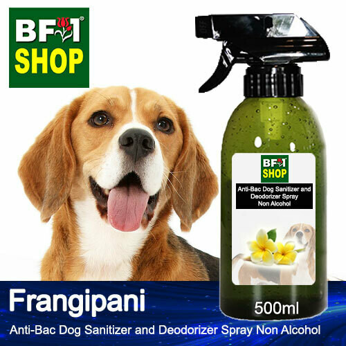 Anti-Bac Dog Sanitizer and Deodorizer Spray (ABPSD-Dog) - Non Alcohol with Frangipani - 500ml for Dog and Puppy ⭐⭐⭐⭐⭐