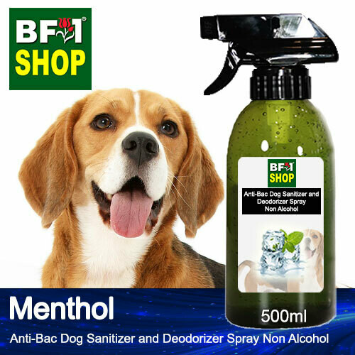 Anti-Bac Dog Sanitizer and Deodorizer Spray (ABPSD-Dog) - Non Alcohol with Menthol - 500ml for Dog and Puppy ⭐⭐⭐⭐⭐