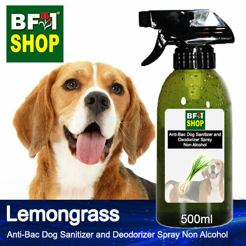 Anti-Bac Dog Sanitizer and Deodorizer Spray (ABPSD-Dog) - Non Alcohol with Lemongrass - 500ml for Dog and Puppy ⭐⭐⭐⭐⭐