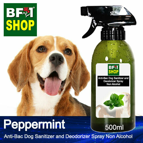 Anti-Bac Dog Sanitizer and Deodorizer Spray (ABPSD-Dog) - Non Alcohol with mint - Peppermint - 500ml for Dog and Puppy ⭐⭐⭐⭐⭐