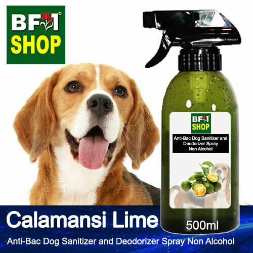 Anti-Bac Dog Sanitizer and Deodorizer Spray (ABPSD-Dog) - Non Alcohol with lime - Calamansi Lime - 500ml for Dog and Puppy ⭐⭐⭐⭐⭐