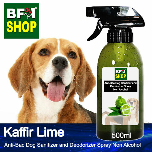 Anti-Bac Dog Sanitizer and Deodorizer Spray (ABPSD-Dog) - Non Alcohol with lime - Kaffir Lime - 500ml for Dog and Puppy ⭐⭐⭐⭐⭐