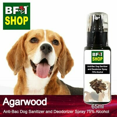 Anti-Bac Dog Sanitizer and Deodorizer Spray (ABPSD-Dog) - 75% Alcohol with Agarwood - 65ml for Dog and Puppy ⭐⭐⭐⭐⭐