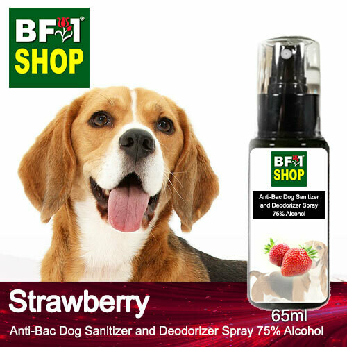 Anti-Bac Dog Sanitizer and Deodorizer Spray (ABPSD-Dog) - 75% Alcohol with Strawberry - 65ml for Dog and Puppy ⭐⭐⭐⭐⭐