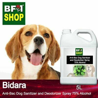 Anti-Bac Dog Sanitizer and Deodorizer Spray (ABPSD-Dog) - 75% Alcohol with Bidara - 5L for Dog and Puppy ⭐⭐⭐⭐⭐