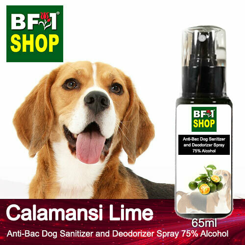Anti-Bac Dog Sanitizer and Deodorizer Spray (ABPSD-Dog) - 75% Alcohol with lime - Calamansi Lime - 65ml for Dog and Puppy ⭐⭐⭐⭐⭐