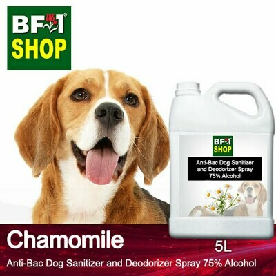 Anti-Bac Dog Sanitizer and Deodorizer Spray (ABPSD-Dog) - 75% Alcohol with Chamomile - 5L for Dog and Puppy ⭐⭐⭐⭐⭐