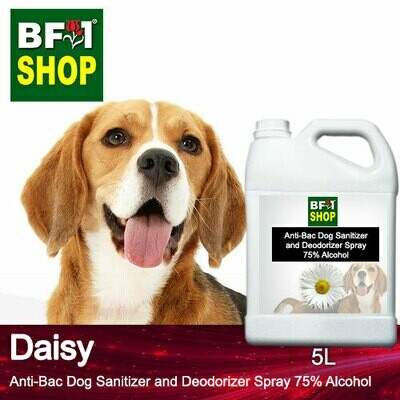 Anti-Bac Dog Sanitizer and Deodorizer Spray (ABPSD-Dog) - 75% Alcohol with Daisy - 5L for Dog and Puppy ⭐⭐⭐⭐⭐