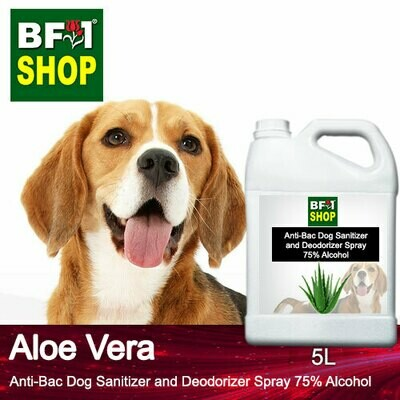 Anti-Bac Dog Sanitizer and Deodorizer Spray (ABPSD-Dog) - 75% Alcohol with Aloe Vera - 5L for Dog and Puppy ⭐⭐⭐⭐⭐