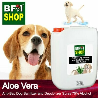 Anti-Bac Dog Sanitizer and Deodorizer Spray (ABPSD-Dog) - 75% Alcohol with Aloe Vera - 25L for Dog and Puppy ⭐⭐⭐⭐⭐