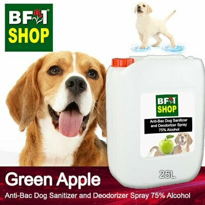 Anti-Bac Dog Sanitizer and Deodorizer Spray (ABPSD-Dog) - 75% Alcohol with Apple - Green Apple - 25L for Dog and Puppy ⭐⭐⭐⭐⭐