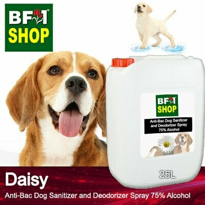 Anti-Bac Dog Sanitizer and Deodorizer Spray (ABPSD-Dog) - 75% Alcohol with Daisy - 25L for Dog and Puppy ⭐⭐⭐⭐⭐
