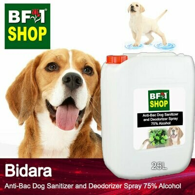 Anti-Bac Dog Sanitizer and Deodorizer Spray (ABPSD-Dog) - 75% Alcohol with Bidara - 25L for Dog and Puppy ⭐⭐⭐⭐⭐