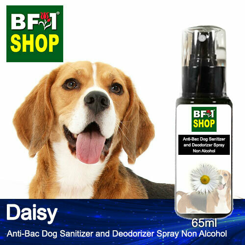 Anti-Bac Dog Sanitizer and Deodorizer Spray (ABPSD-Dog) - Non Alcohol with Daisy - 65ml for Dog and Puppy ⭐⭐⭐⭐⭐