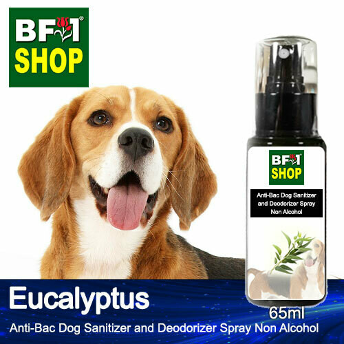 Anti-Bac Dog Sanitizer and Deodorizer Spray (ABPSD-Dog) - Non Alcohol with Eucalyptus - 65ml for Dog and Puppy ⭐⭐⭐⭐⭐