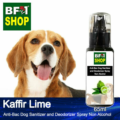 Anti-Bac Dog Sanitizer and Deodorizer Spray (ABPSD-Dog) - Non Alcohol with lime - Kaffir Lime - 65ml for Dog and Puppy ⭐⭐⭐⭐⭐