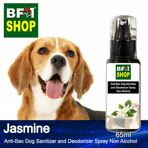 Anti-Bac Dog Sanitizer and Deodorizer Spray (ABPSD-Dog) - Non Alcohol with Jasmine - 65ml for Dog and Puppy ⭐⭐⭐⭐⭐