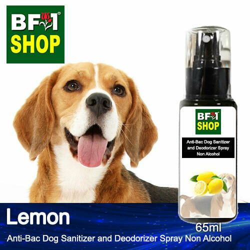Anti-Bac Dog Sanitizer and Deodorizer Spray (ABPSD-Dog) - Non Alcohol with Lemon - 65ml for Dog and Puppy ⭐⭐⭐⭐⭐