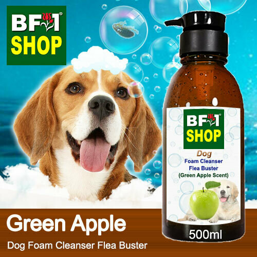 Dog Foam Cleanser Flea Buster (DFC-Dog) - Apple - Green Apple - 500ml ⭐⭐⭐⭐⭐