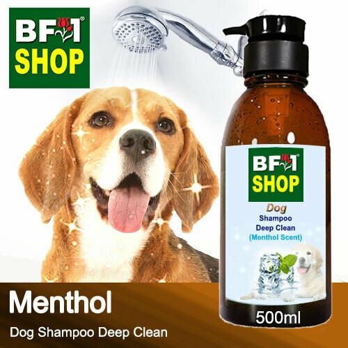 Dog Shampoo Deep Clean (DSDC-Dog) - Menthol - 500ml ⭐⭐⭐⭐⭐