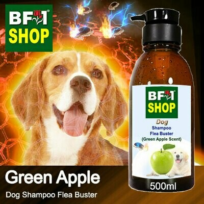 Dog Shampoo Flea Buster (DSO-Dog) - Apple - Green Apple - 500ml ⭐⭐⭐⭐⭐