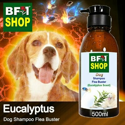 Dog Shampoo Flea Buster (DSO-Dog) - Eucalyptus - 500ml ⭐⭐⭐⭐⭐