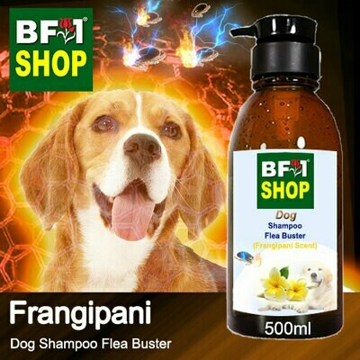 Dog Shampoo Flea Buster (DSO-Dog) - Frangipani - 500ml ⭐⭐⭐⭐⭐