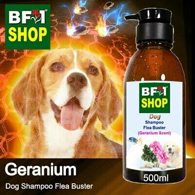 Dog Shampoo Flea Buster (DSO-Dog) - Geranium - 500ml ⭐⭐⭐⭐⭐