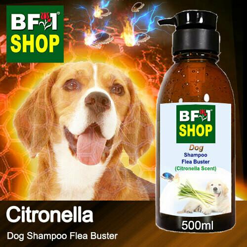 Dog Shampoo Flea Buster (DSO-Dog) - Citronella - 500ml ⭐⭐⭐⭐⭐