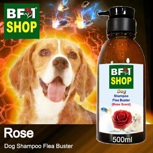Dog Shampoo Flea Buster (DSO-Dog) - Rose - 500ml ⭐⭐⭐⭐⭐