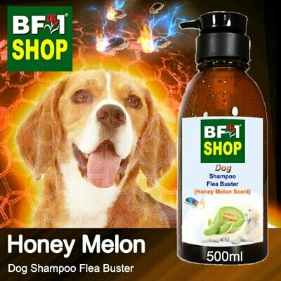 Dog Shampoo Flea Buster (DSO-Dog) - Honey Melon - 500ml ⭐⭐⭐⭐⭐